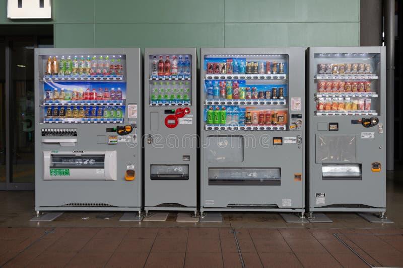 Osaka, JAPAN - CIRCA Juni, 2018: Automaten van diverse Com stock afbeeldingen