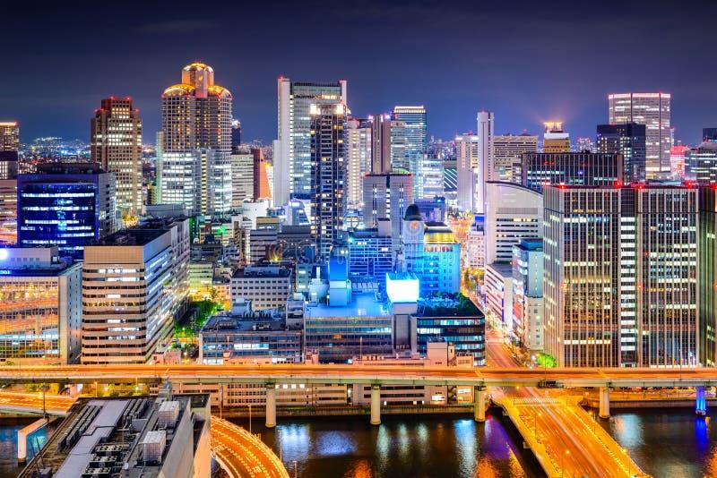 Osaka Japan Cityscape royaltyfria bilder