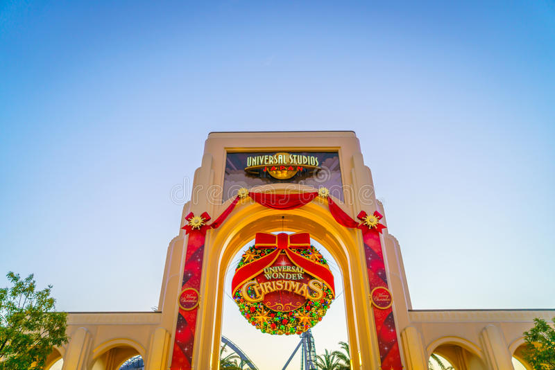 OSAKA, JAPAN - December 1, 2015: Universal Studios Japan (USJ). According to 2014 Theme Index Global Attraction Attendance Report, USJ is ranked fifth among royalty free stock photo