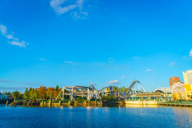 OSAKA, JAPAN - December 1, 2015: Universal Studios Japan (USJ). According to 2014 Theme Index Global Attraction Attendance Report, USJ is ranked fifth among royalty free stock photography