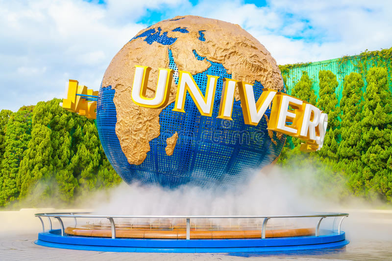 OSAKA, JAPAN - December 1, 2015: Universal Studios Japan (USJ). According to 2014 Theme Index Global Attraction Attendance Report, USJ is ranked fifth among royalty free stock images