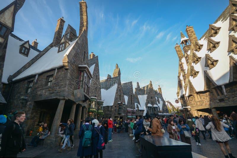 OSAKA, JAPAN DECEMBER 2,2016 : The Wizarding World of Harry Potter, Universal Studios Japan Universal Studios Japan is a theme pa. Rk in Osaka royalty free stock photo