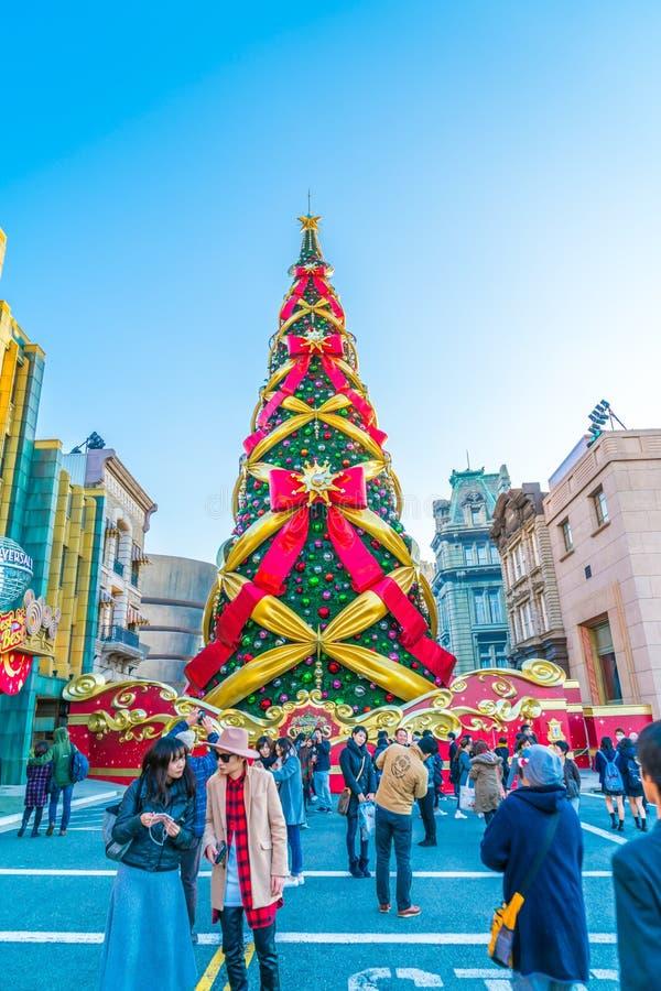 Osaka, Japan - 1. Dezember 2015: Die Freizeitparkanziehungskräfte basiert lizenzfreie stockfotos