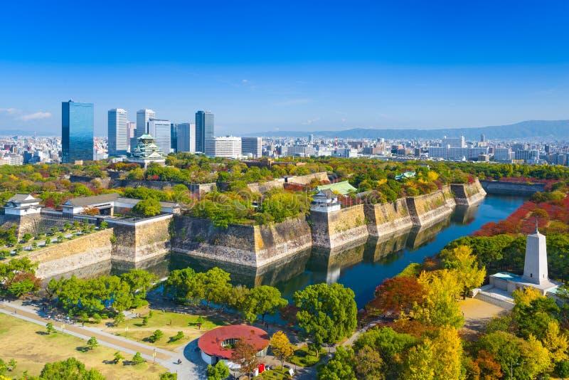 Osaka Japan horisont arkivbild