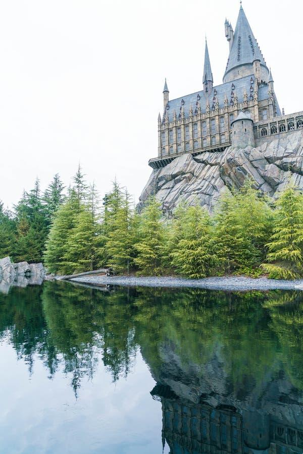 Osaka, Japan - 21 NOV., 2016: De Wizarding-Wereld van Harry Potter stock foto