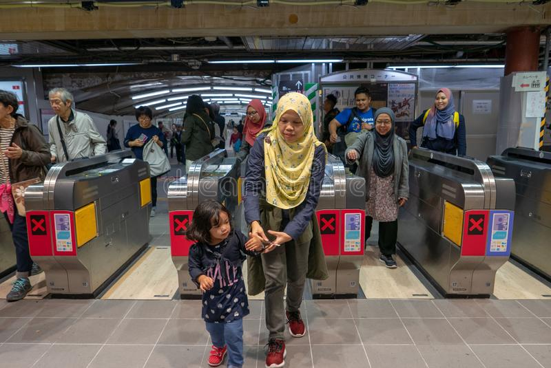 OSAKA, JAPAN 9. NOVEMBER 2018: Ein Gruppe Moslem haben, gerade thr zu führen stockfotos