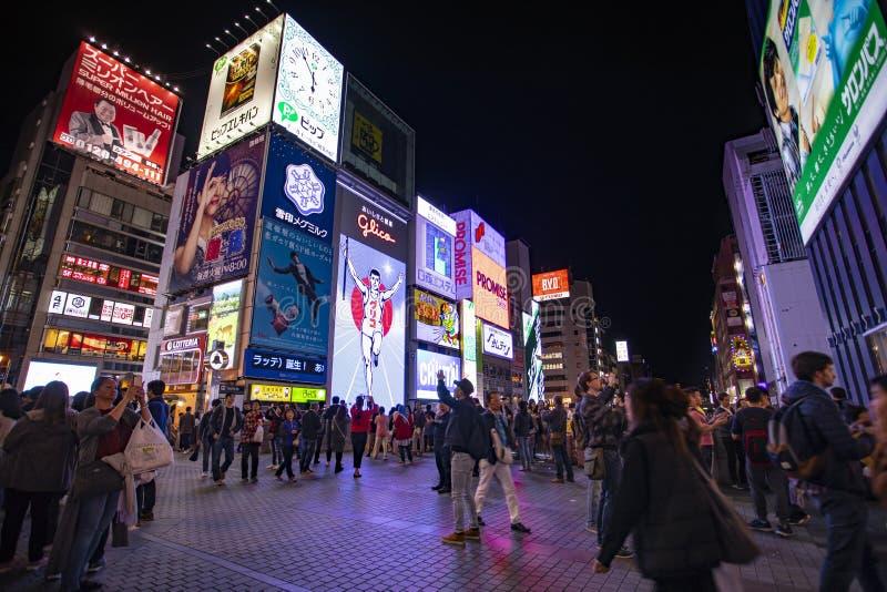 Osaka Japan - november6,2018: große Zahl des touristischen attractio lizenzfreie stockfotos