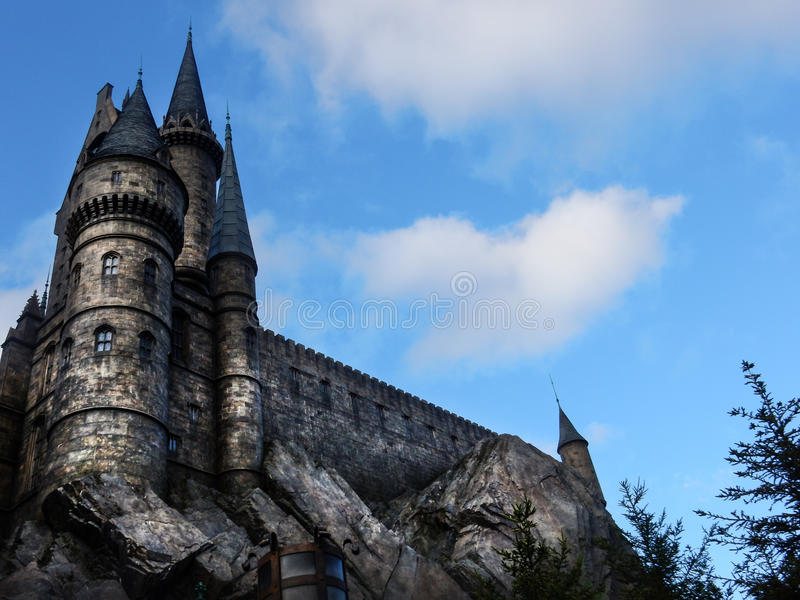 OSAKA, JAPAN- November 24: harry potter castle on November 24, 2 royalty free stock photos
