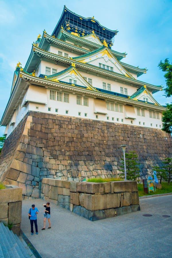 OSAKA JAPONIA, LIPIEC, - 18, 2017: Osaka kasztel w Osaka, Japonia Kasztel jest jeden Japonia ` s najwięcej sławnych punktów zwrot zdjęcie royalty free