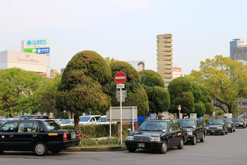Osaka Jawny transport w mieście miasto jest częścią obrazy royalty free