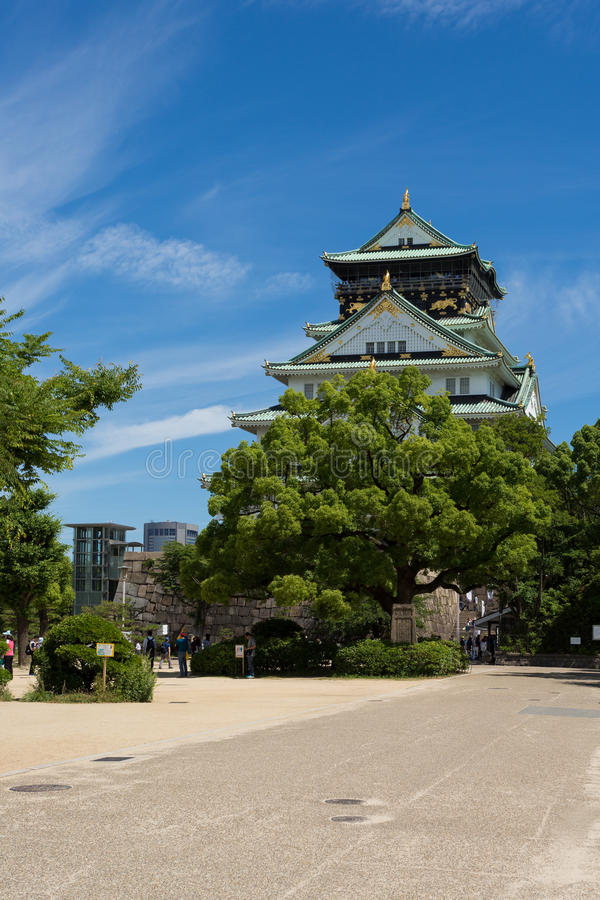 Osaka kasztel jest Japońskim kasztelem w Chūō-ku, Osaka, Japonia Th obrazy royalty free