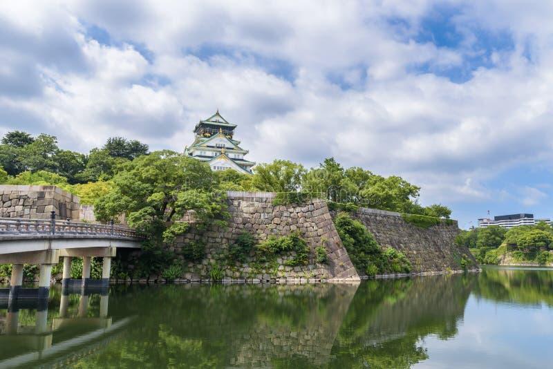Osaka kasztel lub Osaka lanmark Osaka obrazy royalty free