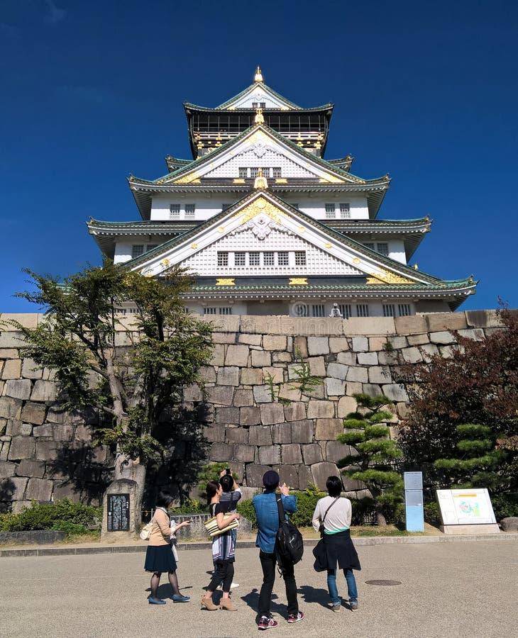 Osaka kasztel, Osaka, Japan obraz royalty free