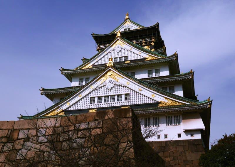 Osaka kasztelu magistrali wierza obrazy stock
