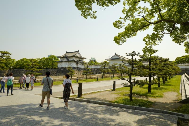 Osaka kasztelu park Osaka kasztel jest jeden Japan zdjęcia royalty free