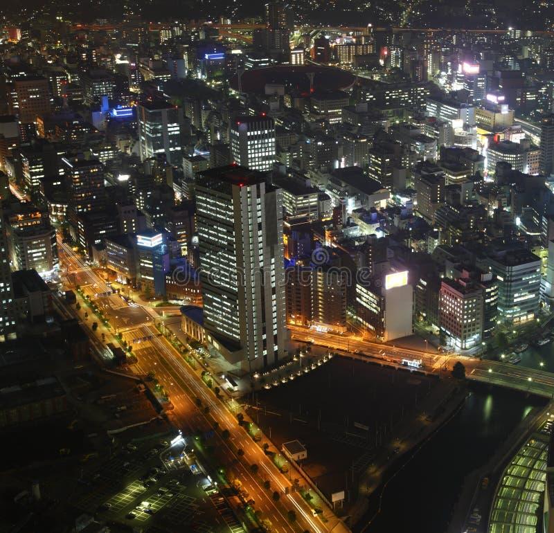 Osaka la nuit photographie stock libre de droits