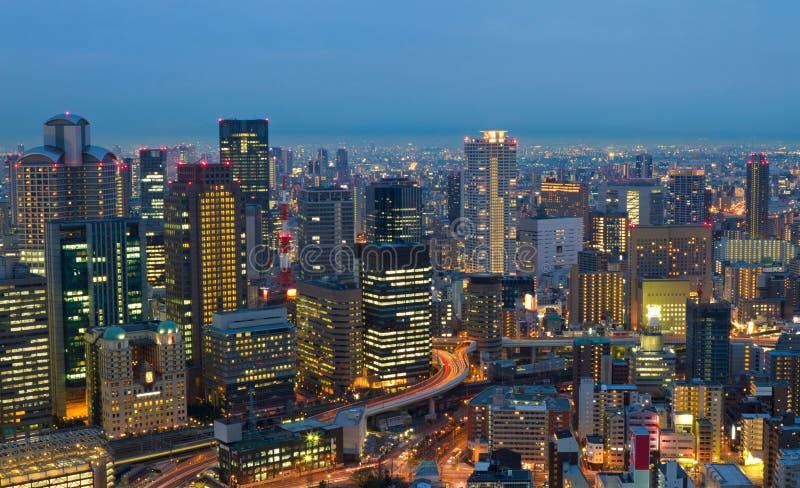 Osaka la nuit, Japon photographie stock