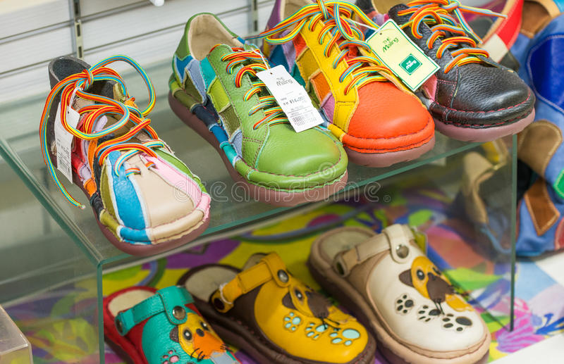 OSAKA - MAY 26, 2016: The Maling colourful shoes shop. It is a f royalty free stock images