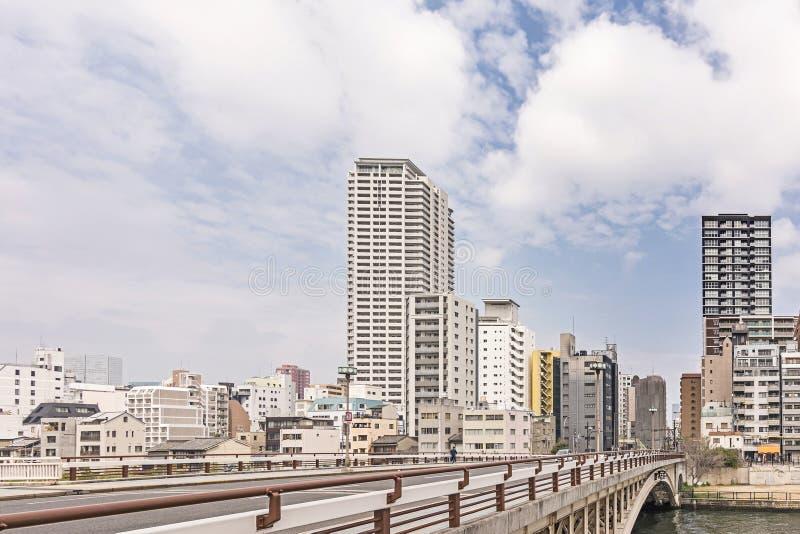 Osaka miasta ulicy sceneria fotografia royalty free
