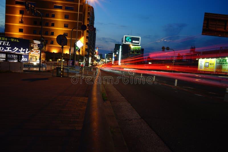 Osaka-Nacht lizenzfreie stockfotos