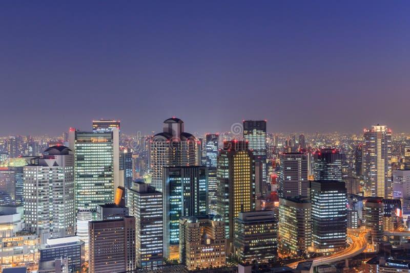 Osaka od najwyższego piętra wysoki budynek w grodzkim Symphon obrazy stock