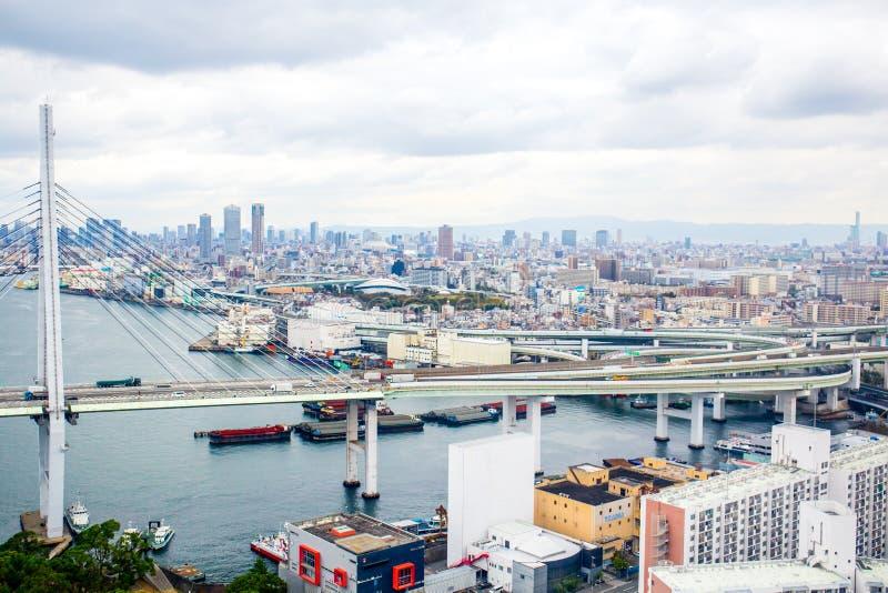 Osaka pejzaż miejski fotografia royalty free