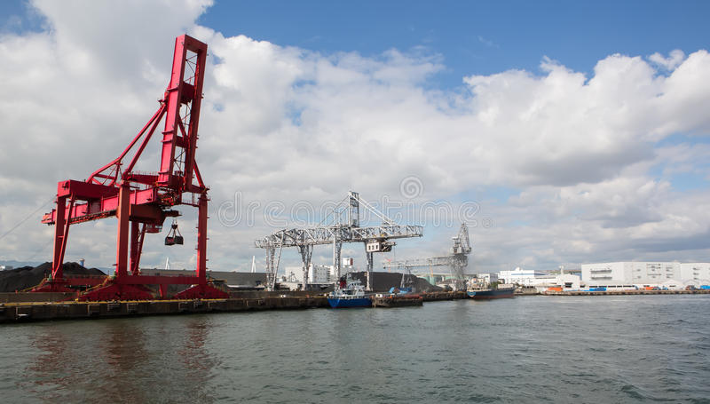 Osaka Port, carga imagem de stock royalty free