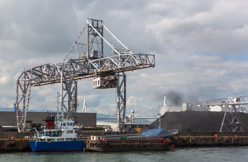 Osaka port, Morski ładunek, fotografia royalty free