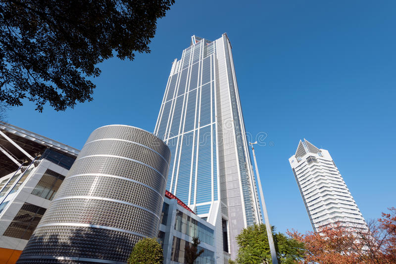 Osaka Prefectural Government Sakishima Building, or Cosmo Tower, royalty free stock photo