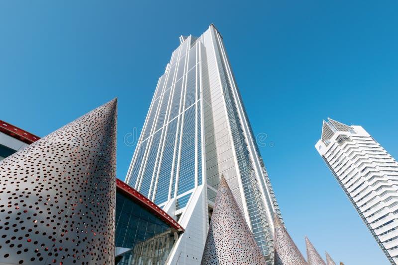 Osaka Prefectural Government Sakishima Building, ou tour de Cosmo, photographie stock libre de droits