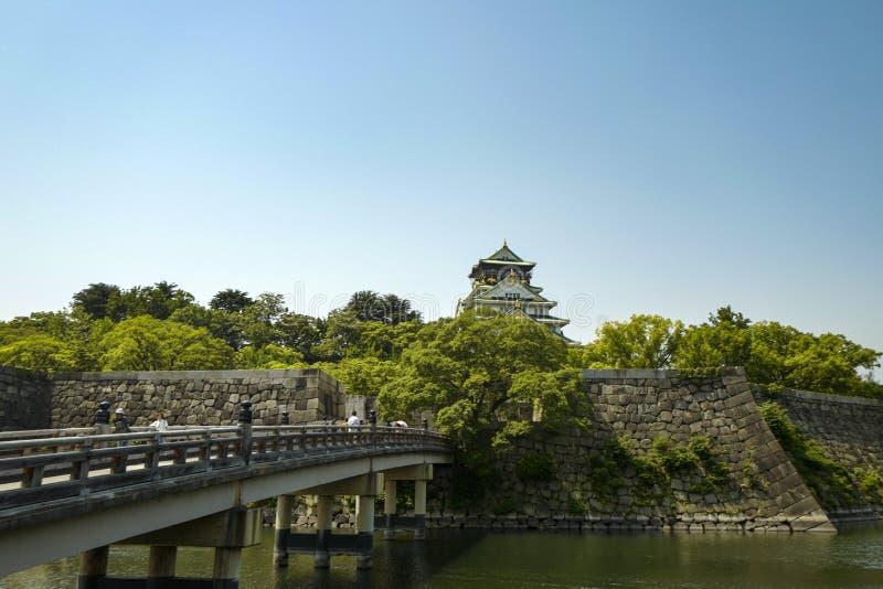 Osaka Roszuje kasztel jest jeden Japonia sławni punkty zwrotni obraz stock