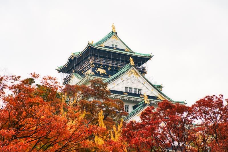Osaka-Schloss im Herbst lizenzfreies stockfoto