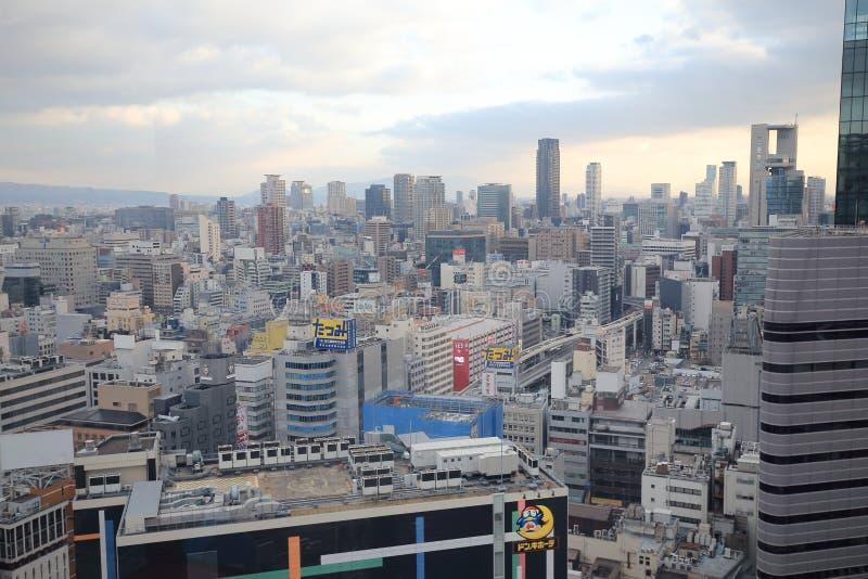 Osaka sightsikt från ferrishjulet för hev fem royaltyfria bilder