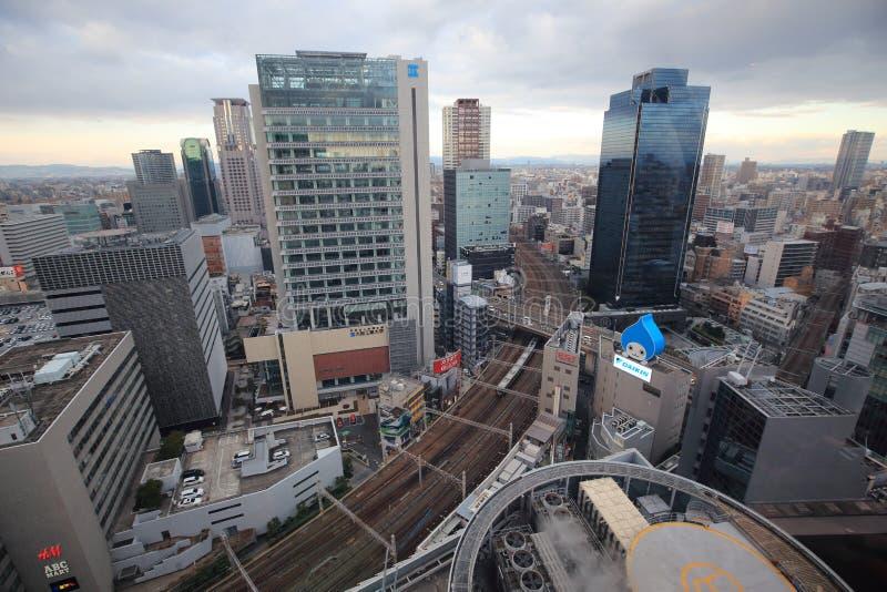 Osaka sightsikt från ferrishjulet för hev fem royaltyfria foton