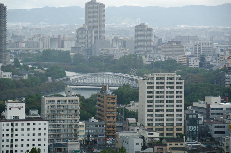Download Osaka Skyline On A Cloudy Day Editorial Photo - Image: 23923321