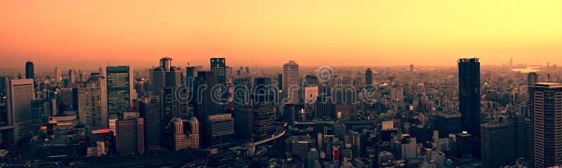 Osaka Skyline At Sunset Stock Images