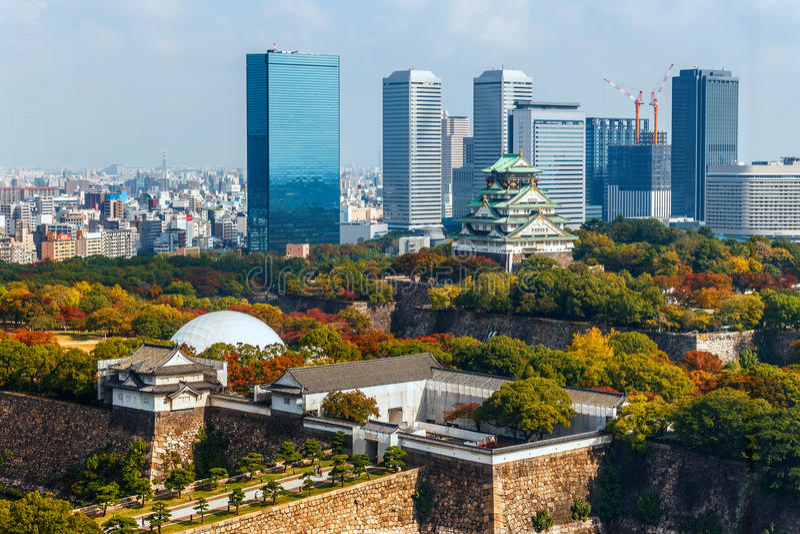 Osaka slott arkivfoton