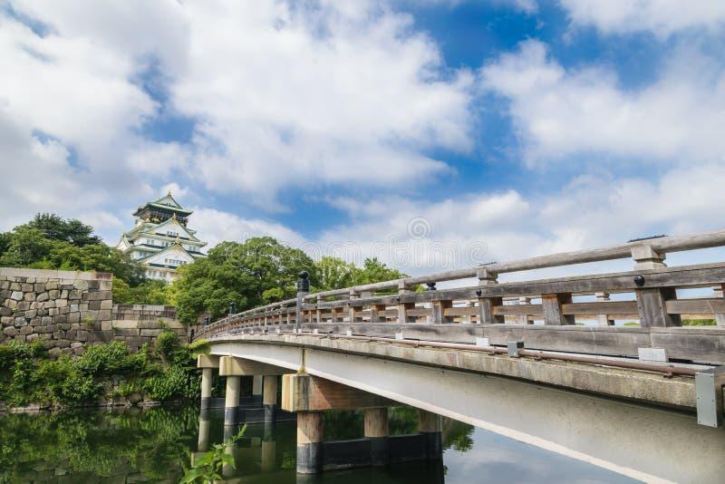 Osaka slott eller Osaka-jo, gränsmärket av Osaka arkivfoto