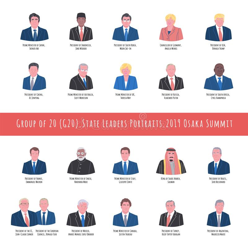 2019 Osaka szczytu lidery royalty ilustracja