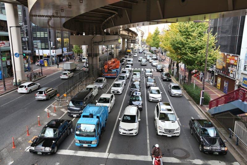 Osaka trafik royaltyfria bilder