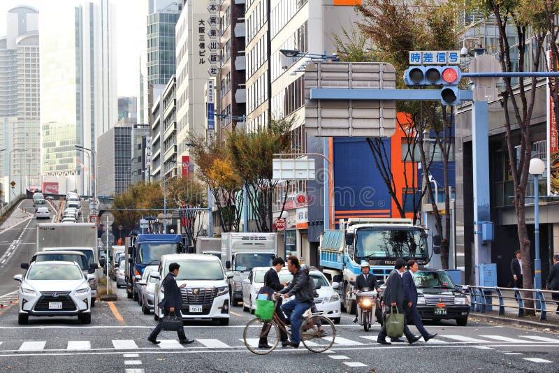 Osaka trafik arkivfoto