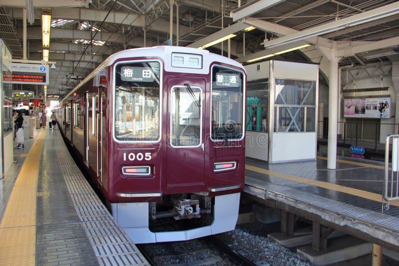 Osaka Train zu Umeda stockbild