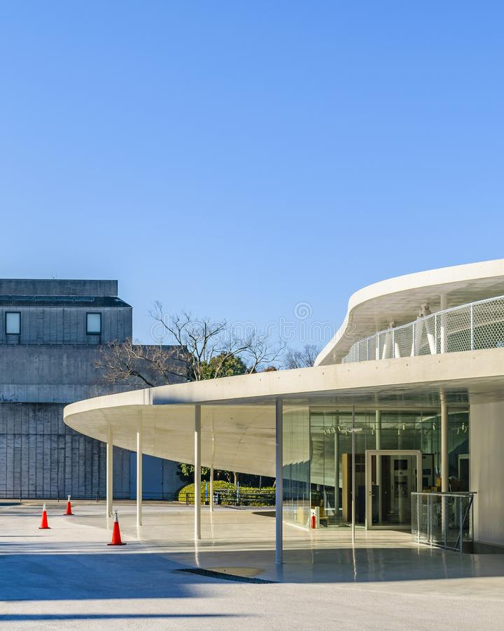 Osaka University du b?timent ext?rieur d'arts image stock