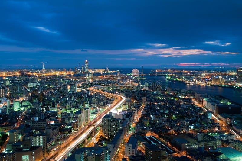 Osaka van wolkenkrabber stock afbeelding
