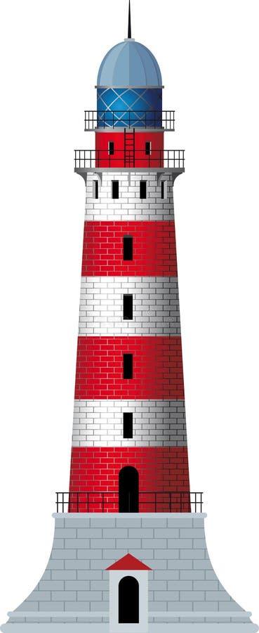 Osamotniona latarnia morska royalty ilustracja