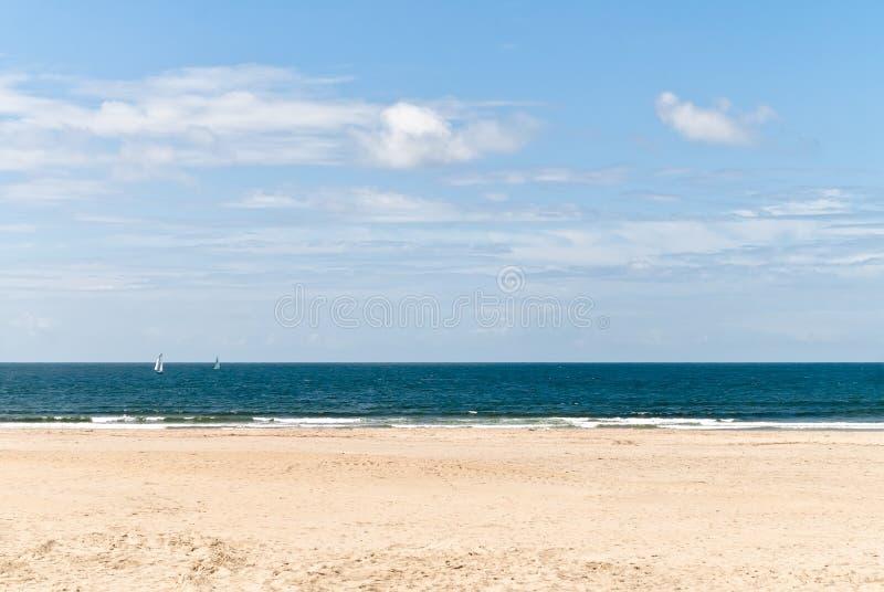 Osamotniona plaża obraz royalty free