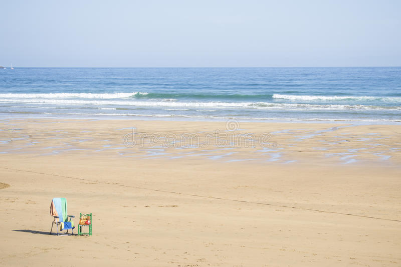 Osamotniona plaża obraz stock