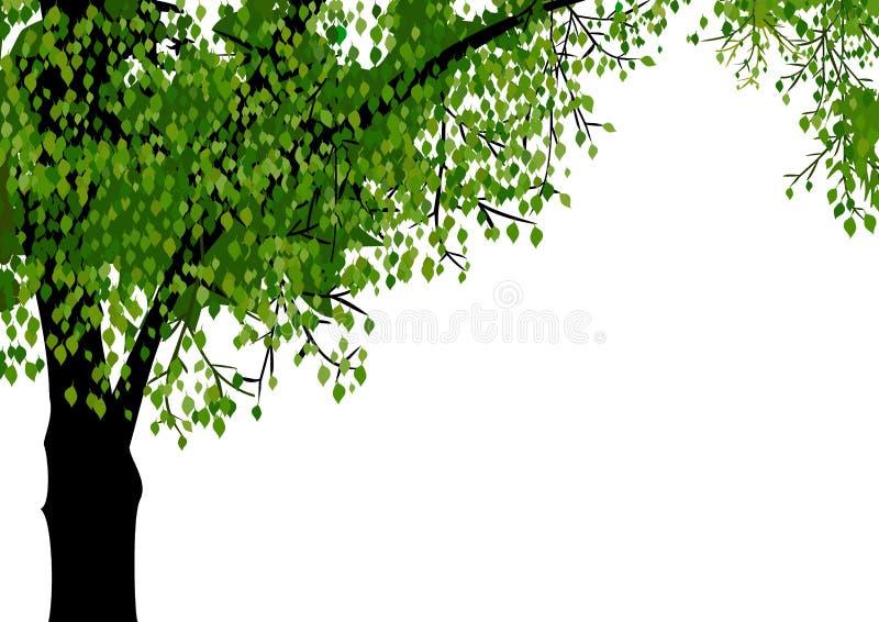 osamotniony drzewo ilustracja wektor