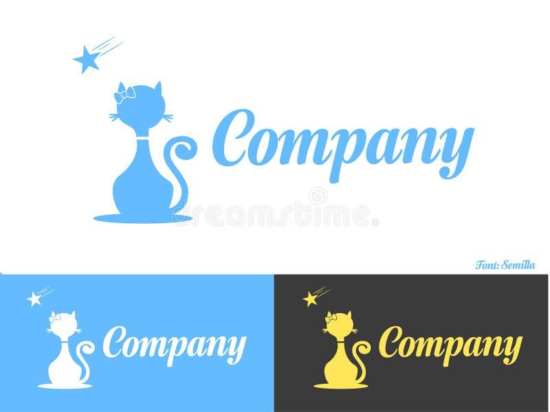 Osamotniony kota logo zdjęcie stock