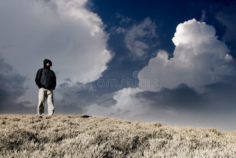osamotniony mężczyzna obrazy stock
